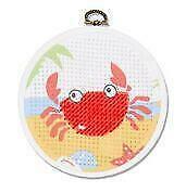 The Crab – My First Stitches Printed Half Cross Stitch Kit DMC