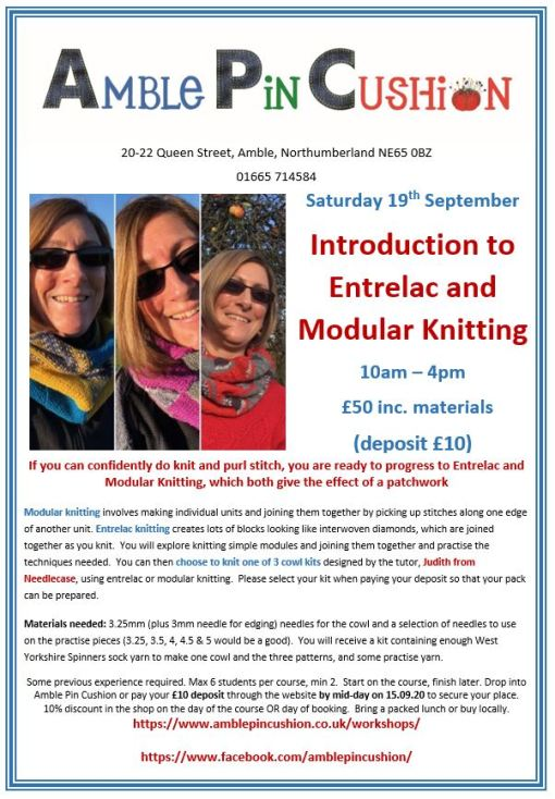 Jpeg Entrelac and Modular Knitting Sept 2020