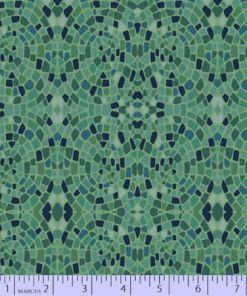 green blue mosaic dance at dusk marcus fabric