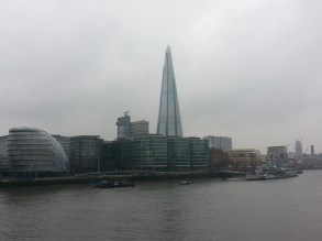 City Hall and the Shard, view from the Thames