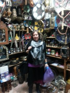 Blurry, but you get the idea - me in one of the many Caves of Ali Baba