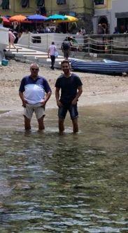 Daddy and Son in Varenza Cinque Terre