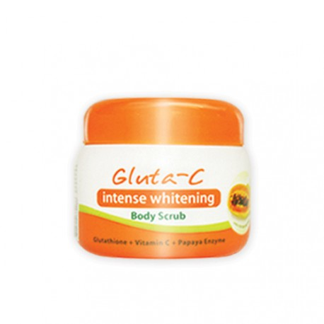 gluta c body scrub glutathion intense whitening