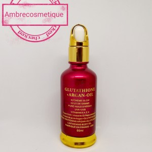 HUILE ECLAIRCISSANTE GLUTATHIONE & ARGAN & VIT A-E-K EXTRA GLOW PROTECTION UV