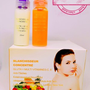BLANCHISSEUR CONCENTRE EXTRA FORT GLUTA KOJIC PAPAYA ANTI TACHES 2 PIECES
