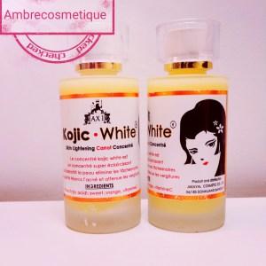SERUM CONCENTRE KOJIC WHITE SUPER ECLAIRCISSANT GLUTA VITAMINE C & E