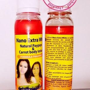 NANO EXTRA WHITE PAPAYA & CAROTTE LOTION ECLAIRCISSANTE 1 PIECE