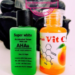ALPHA ARBUTIN & KOJIC ACID & AHA & VITAMINE C & GLUTATHIONE & COLLAGENE ULTRA ECLAIRCISSANTS SERUMS 2 PIECES
