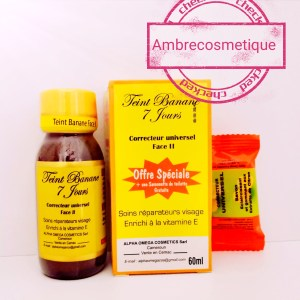 CONCENTRE TEINT BANANE ETAPE 2 ACIDES DE FRUITS & VITAMINE E ANTI TACHES ACTION ULTRA FORT