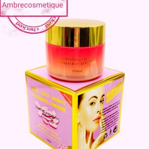 CREME ECLAIRCISSANTE TEINT DIAMANT GLUTATHIONE COMPRIME 24K ACIDE HYALURONIQUE ULTRAVITAMINES GRAND FORMAT 100 ML