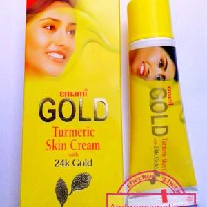 EMAMI GOLD TURMERIC SKIN CREAM 24K GOLD TUBE ECLAIRCISSANT