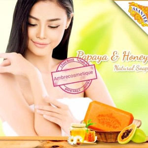 ASANTEE SAVON ECLAIRCISSANT INTENSE PAPAYA & AHA & MIEL & VIT C & Q10 VERSION ORIGINALE