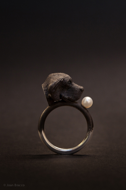 ring, 2011 : patinated silver, pearl