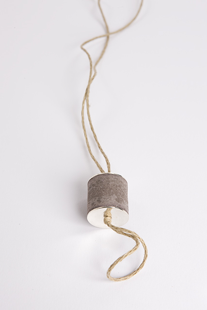 necklace, 2012 : recycled paper, silver, cotton