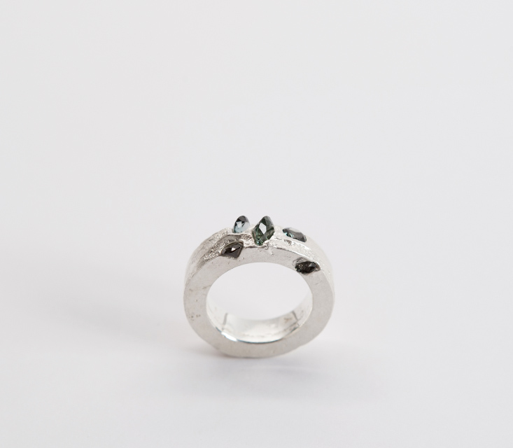 ring, 2014 : silver, synthetic spinel