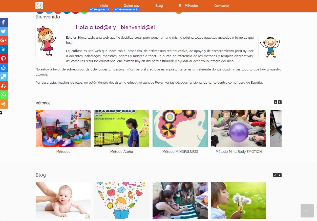 diseño y administración de web educaflash.com