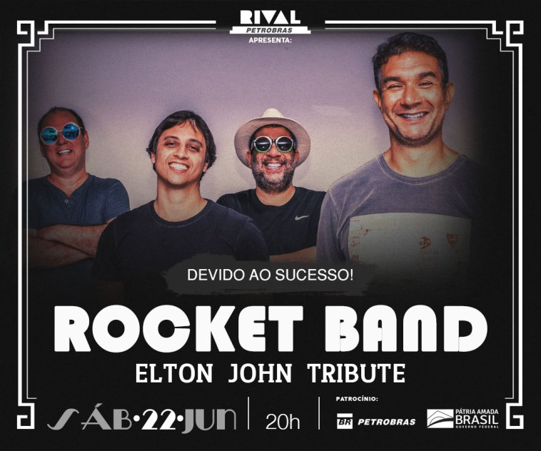 Rocket Band faz tributo a Elton John no Teatro Rival | Agenda | Revista Ambrosia