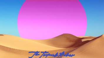 "Capa do EP ""Desert Love"", da The Tropical Riders"