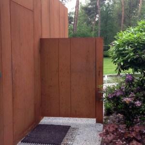 Cortenstaal design poort