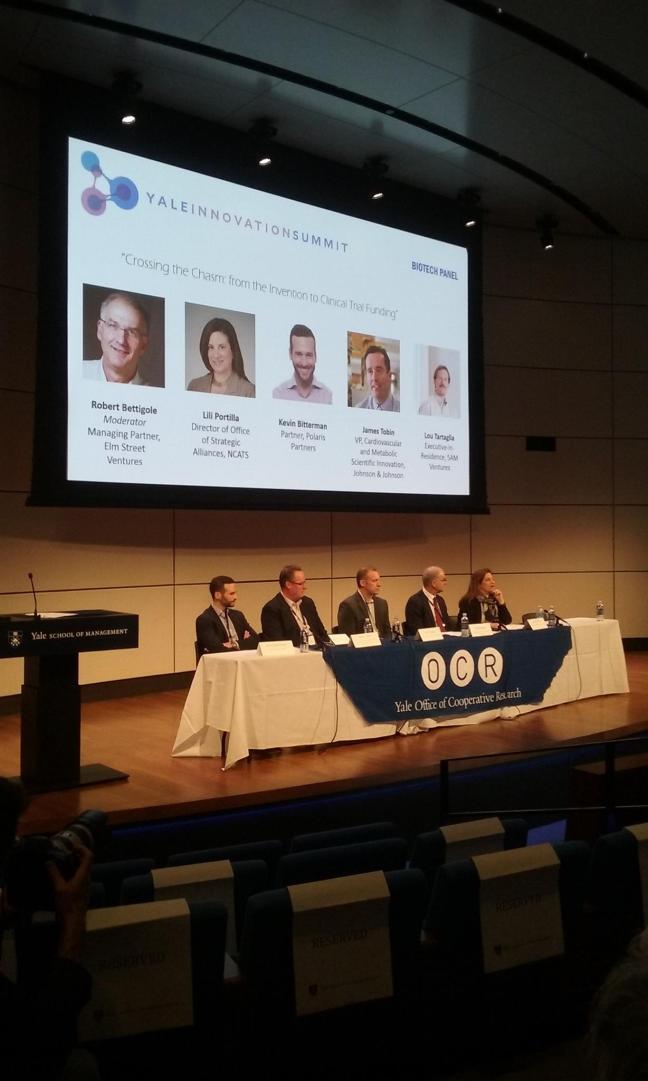 Yale Innovation summit Panel Biotech1
