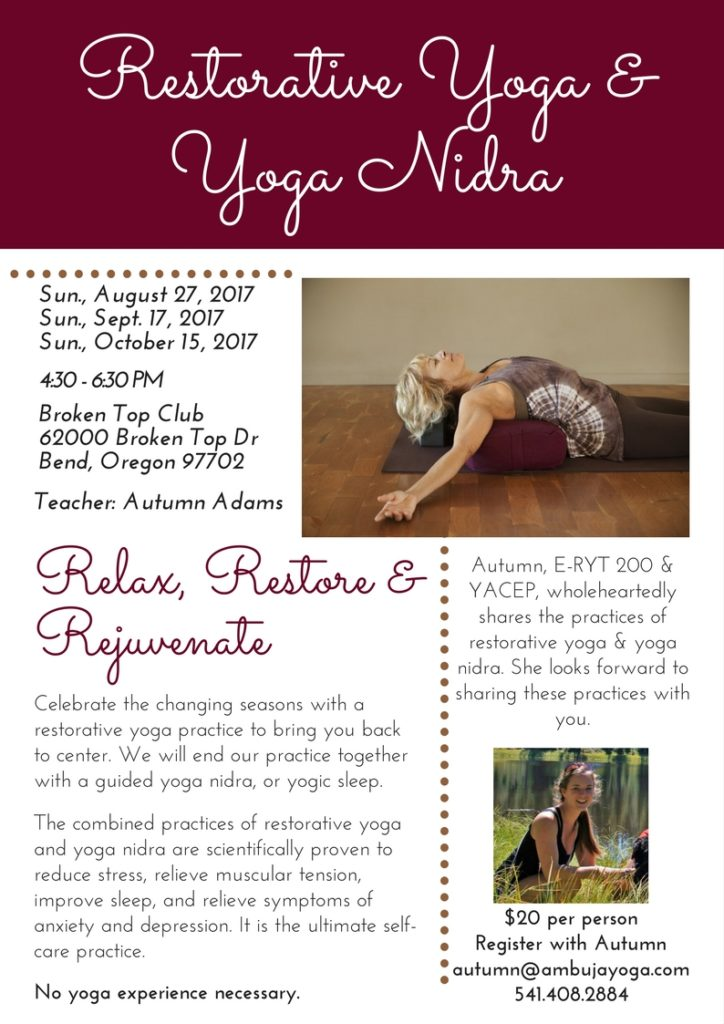 Restorative yoga Bend, Oregon
