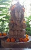 Lord Ganesh at the Yoga Barn