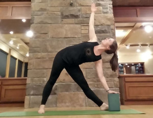 triangle-pose-with-block