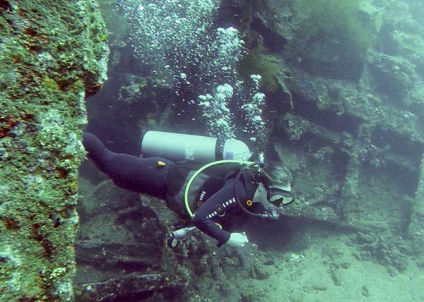 Liberty wreck yoga and scuba diving