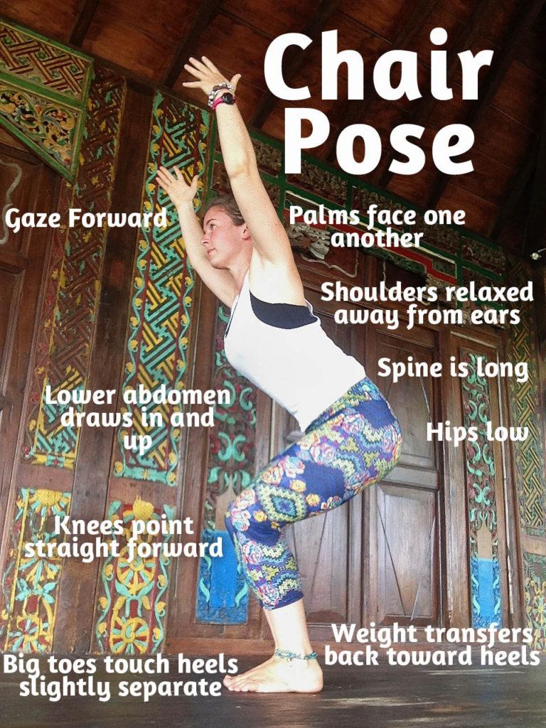 how to teach chair pose