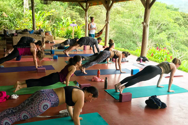 affordable yoga retreat nicaragua march 2019 vinyasa yoga class