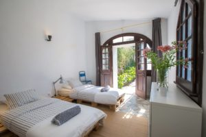 yoga retreat in Portugal room