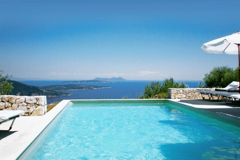 luxury yoga retreat greece pool view