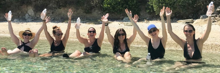 girl's trip yoga retreat in Greece