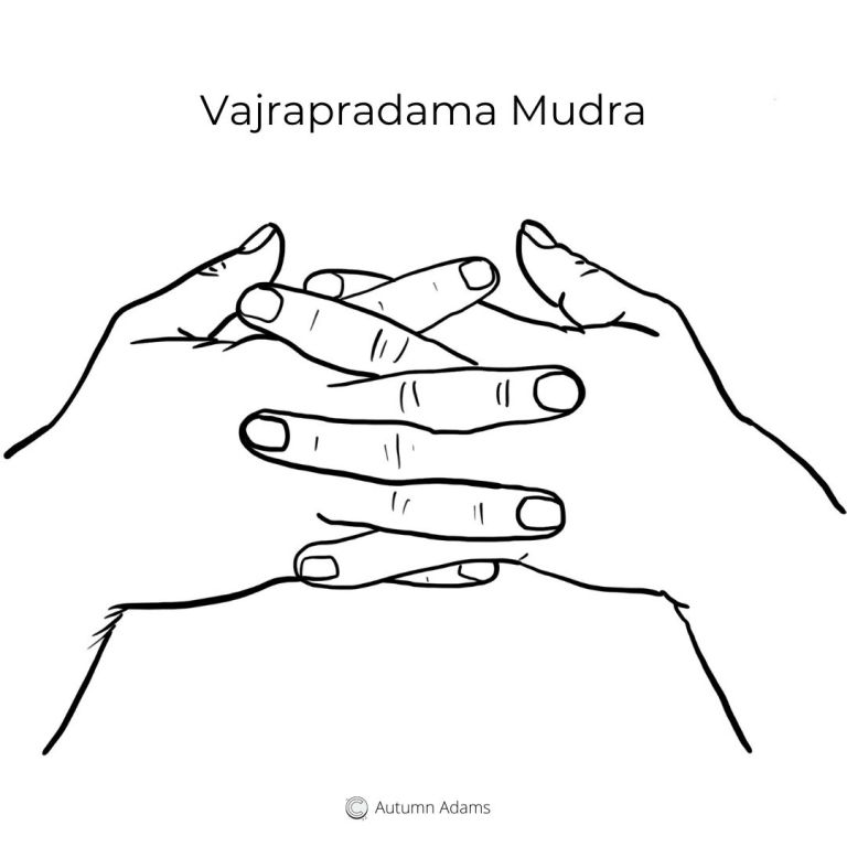 meditation mudra for trust- vajrapradama