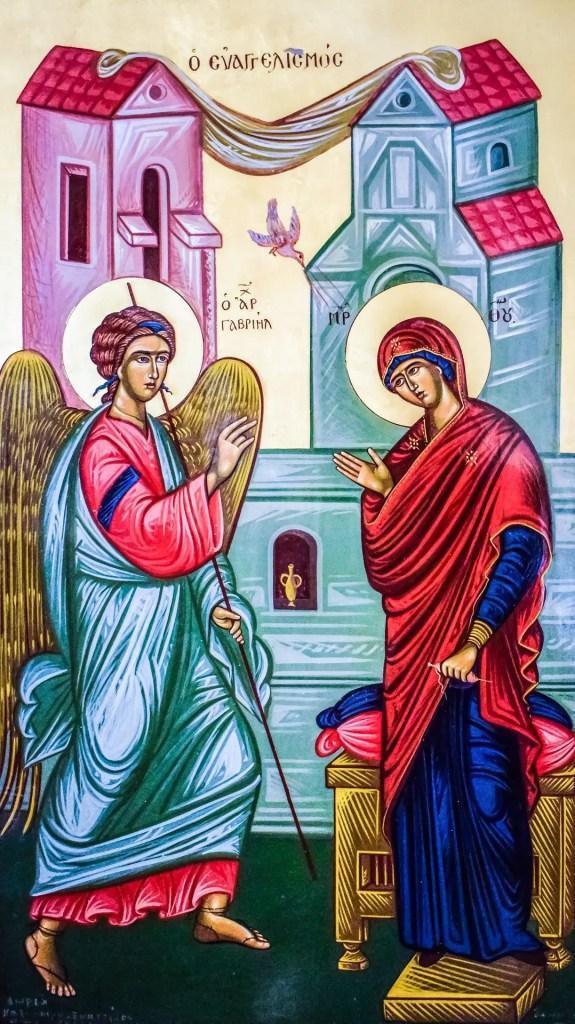 Archangel Gabriel and Mary
