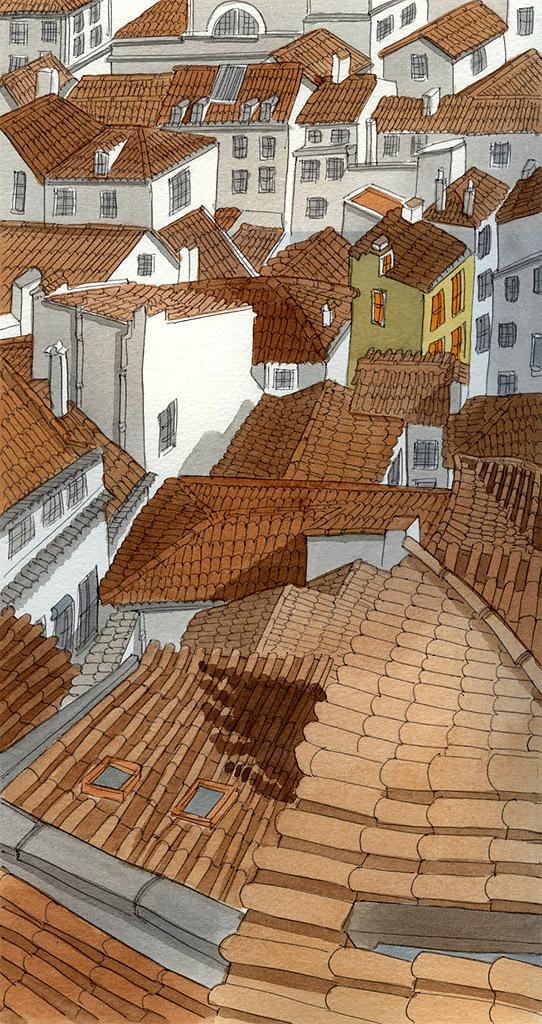 Little Yellow House in Lisbon