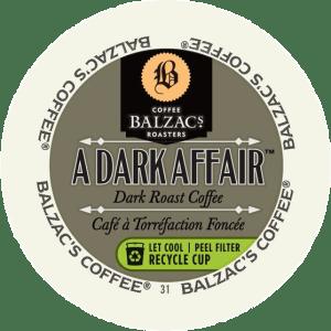 Balzac's A Dark Affair  (24 Pack K-Cups)