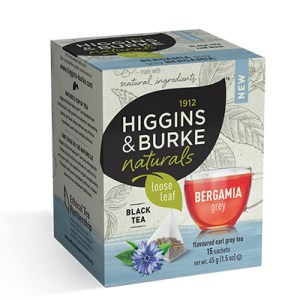 Higgins and Burke Bergamia Grey Loose Leaf Pyramid Tea