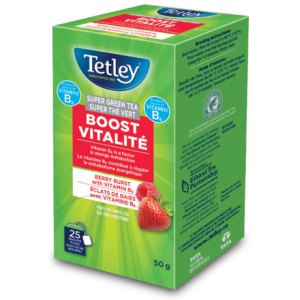 Tetley Boost Vitalité Super Green Tea - Berry Burst with Vitamin B6