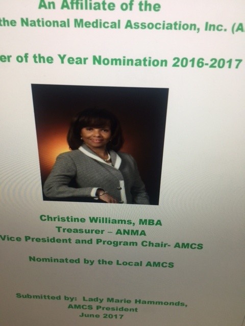 Christine Williams Receives AMCS Member of the Year