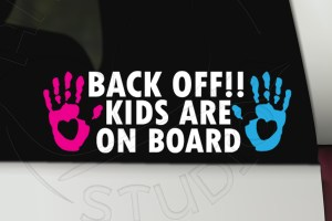 Kids on board vinyl decal bumper sticker