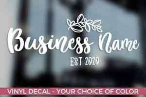 Business Window Decal, Personalized Window Decal