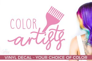 Color Artist – Salon Decal – Salon Gifts – Gifts for Hair Techs