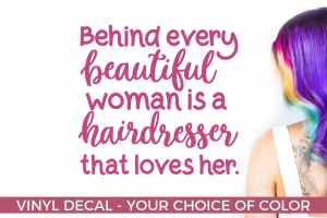 Hairdresser that loves her – Salon Decal – Salon Gifts – Gifts for Nail Techs