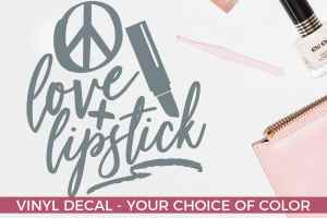 Love and Lipstick – Beautician Decal