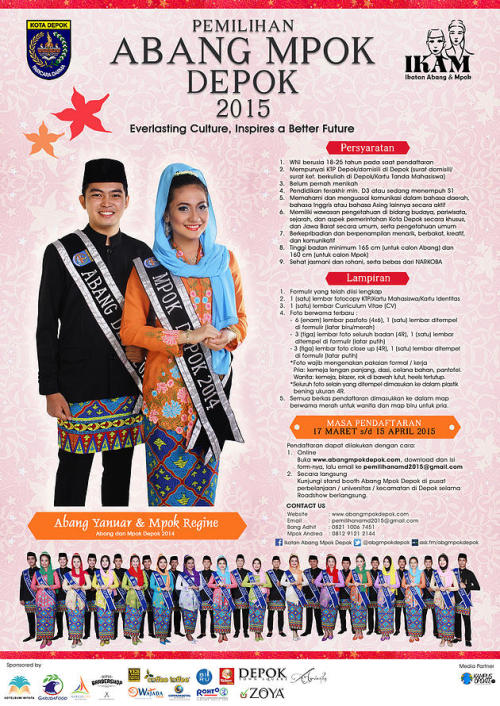 Poster Pemilihan Abang Mpok Depok 2015