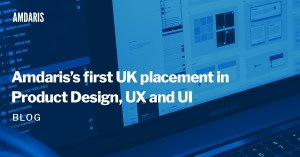 Amdaris's first product design, UX and UI placement