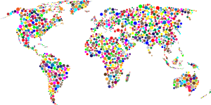 Colorful-Circles-World-Map