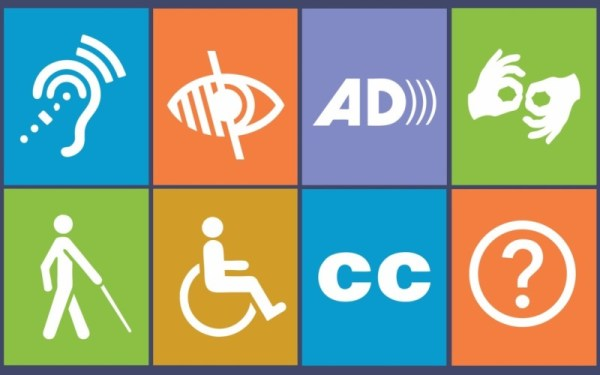 web accessibility types of disabilities infographic