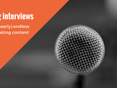 microphone for using interviews for nearly endless content